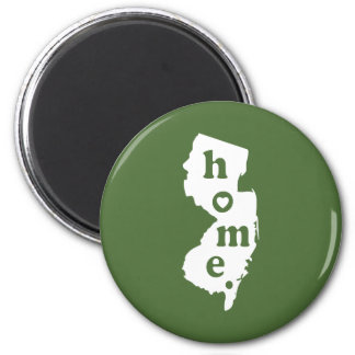 New Jersey Home 2 Inch Round Magnet