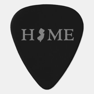 New Jersey home silhouette state map Guitar Pick