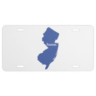 New Jersey Home State Blue License Plate