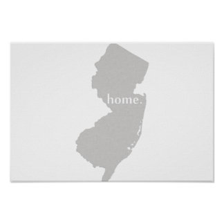 New Jersey Home State Poster
