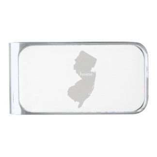 New Jersey Home State Silver Finish Money Clip