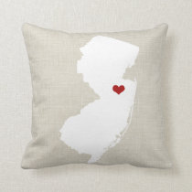 """New Jersey Home State Throw Pillow 16"""" x 16"""""""