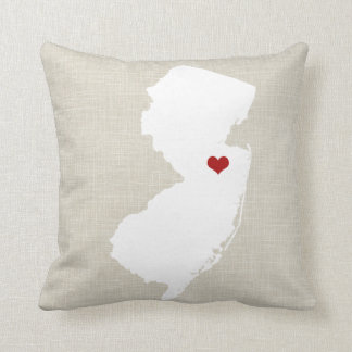 "New Jersey Home State Throw Pillow 16"" x 16"""