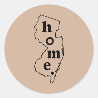 New Jersey Home Classic Round Sticker