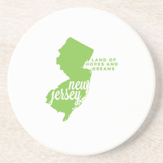new jersey | hopes and dreams | apple green sandstone coaster