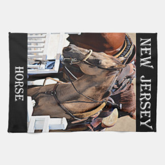 New Jersey Horse Kitchen Towels