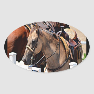 New Jersey Horse Oval Sticker
