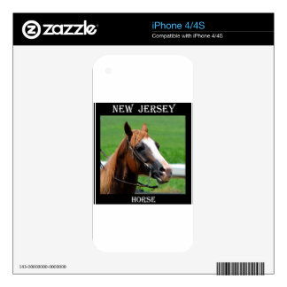 New Jersey Horse Skins For iPhone 4