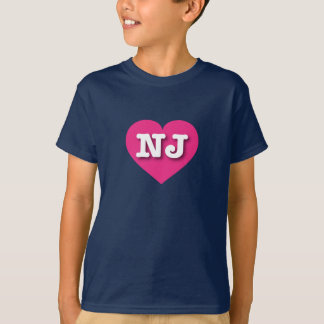 New Jersey Hot Pink Heart - Big Love T-Shirt
