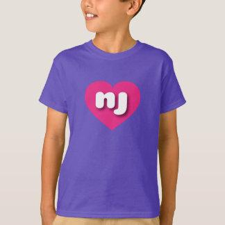 New Jersey hot pink heart - mini love T-Shirt
