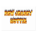 New Jersey hottie fire and flames Large Business Cards (Pack Of 100)