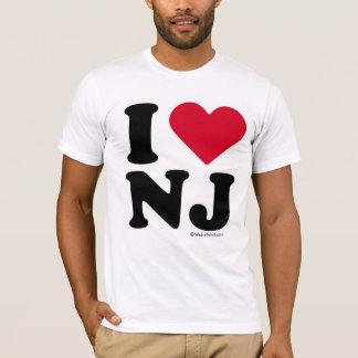 """NEW JERSEY - """"I LOVE NJ"""" """"I LOVE NEW JERSEY""""  T-Shirt"""