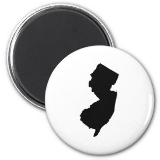 New Jersey in Black and White Magnet