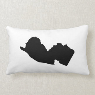 New Jersey in Black and White Throw Pillows