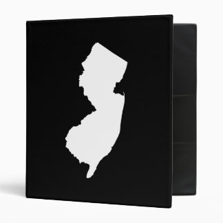 New Jersey in White and Black 3 Ring Binder