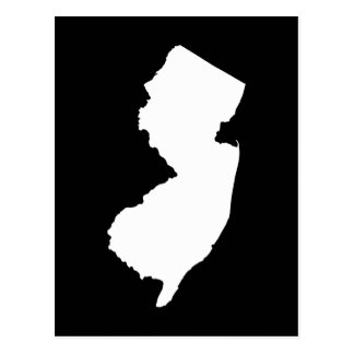 New Jersey in White and Black Postcard