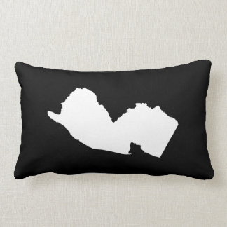 New Jersey in White and Black Throw Pillow