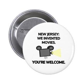 New Jersey: Inventamos películas Pin Redondo De 2 Pulgadas