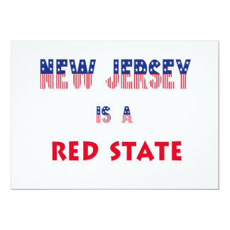 New Jersey is a Red State 5x7 Paper Invitation Card