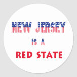 New Jersey is a Red State Classic Round Sticker