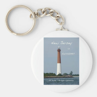 New Jersey is Awesome - Barnegat Lighthouse Keychain