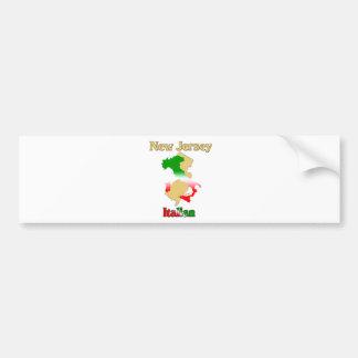New Jersey Italian Bumper Sticker