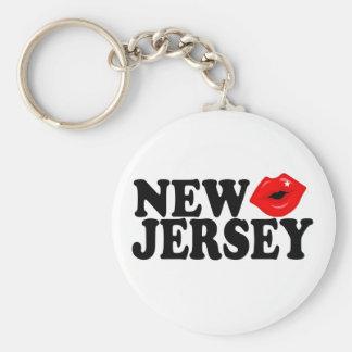 New Jersey Kiss Basic Round Button Keychain