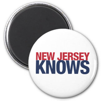 New Jersey Knows 2 Inch Round Magnet