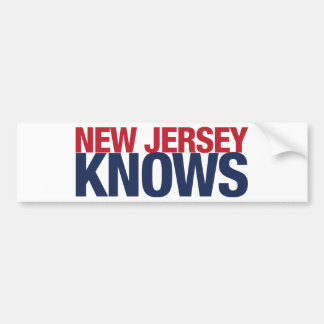New Jersey Knows Bumper Sticker