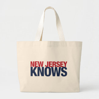 New Jersey Knows Large Tote Bag