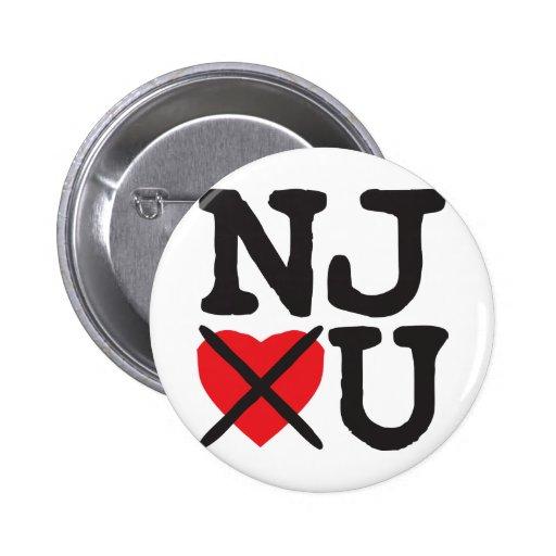 New Jersey le odia Pin Redondo 5 Cm