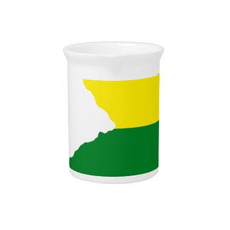 New Jersey LGBT Flag Map Drink Pitcher