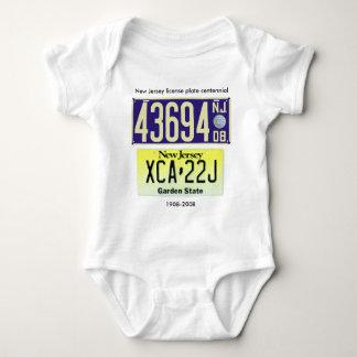 New Jersey License Plate Centennial Baby Bodysuit
