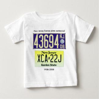 New Jersey License Plate Centennial Baby T-Shirt