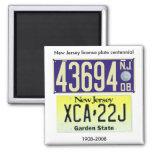 New Jersey License Plate Centennial Refrigerator Magnet