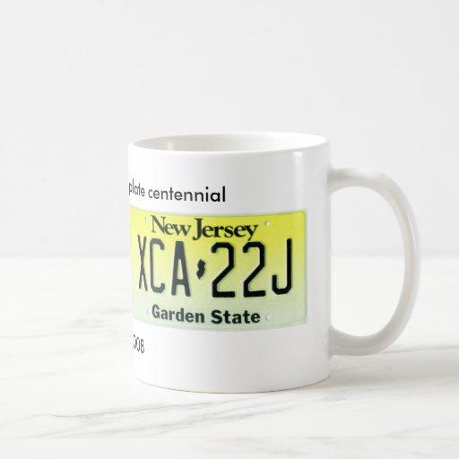 New Jersey License Plate Centennial Classic White Coffee Mug