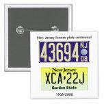 New Jersey License Plate Centennial Pin