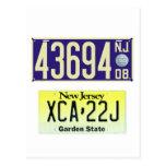 New Jersey License Plate Centennial Postcard