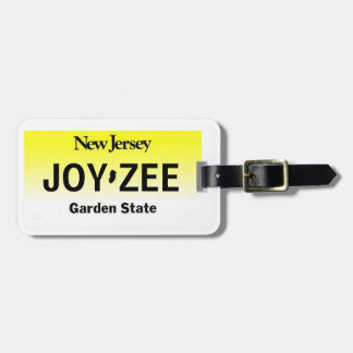 New Jersey License Plate Luggage Tag 2-Sided