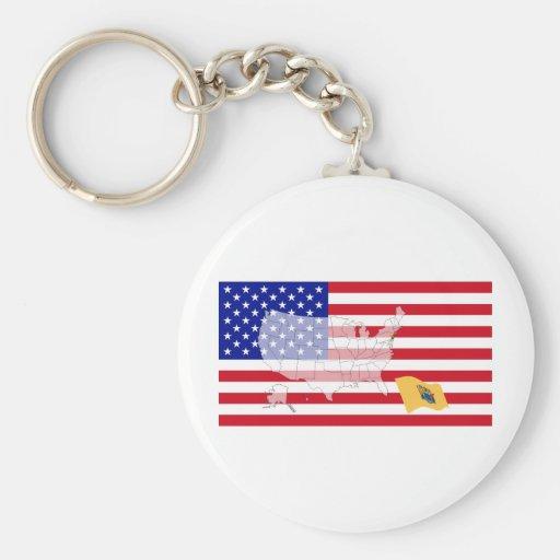 New Jersey, los E.E.U.U. Llavero