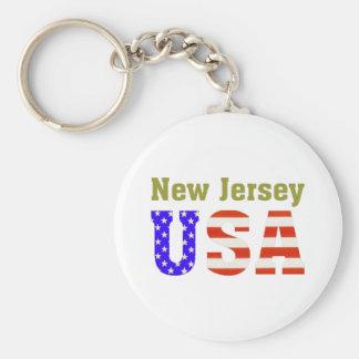 ¡New Jersey los E.E.U.U.! Llavero Redondo Tipo Pin