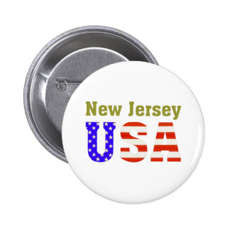 ¡New Jersey los E.E.U.U.! Pin Redondo 5 Cm