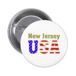 ¡New Jersey los E.E.U.U.! Pins