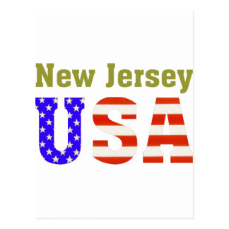 ¡New Jersey los E.E.U.U.! Tarjeta Postal