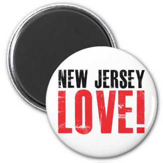 New Jersey Love 2 Inch Round Magnet