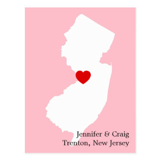 New Jersey Love Save the Date Postcard