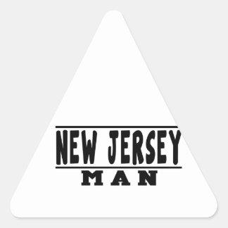 New Jersey Man Designs Triangle Sticker
