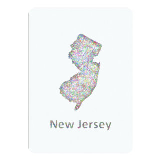 New Jersey map 5x7 Paper Invitation Card