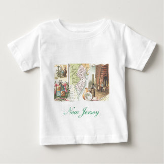 New Jersey map and historic scenes Baby T-Shirt