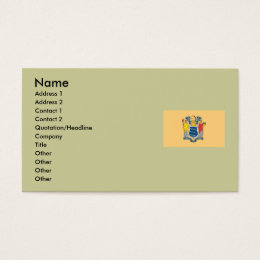 State of new jersey business cards templates zazzle new jersey map and state flag business card reheart Images